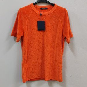 Louis Vuitton Orange Towel Fabric T-Shirt